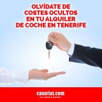 Alquiler de coches en Tenerife sin costes ocultos