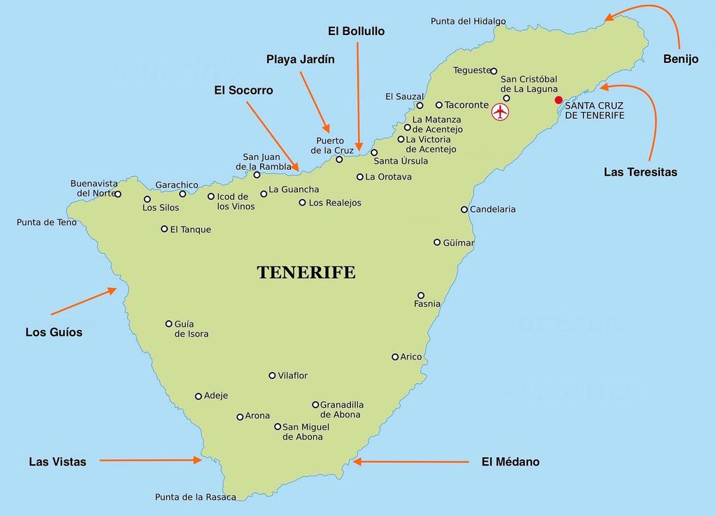 tenerife mapa mapa tenerife norte playas   Blog de Canarias en Coche tenerife mapa