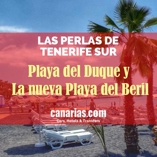 Playa Del Duque y nueva playa El Beril, Tenerife